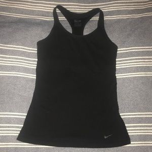 Black Nike Dri-Fit Workout Top, S